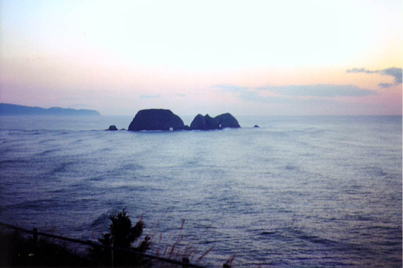 Oregon Coast 2000: Rock Islands at Sunset