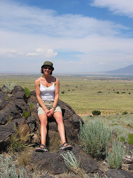ABQ 2004: Jane on Black Volcano