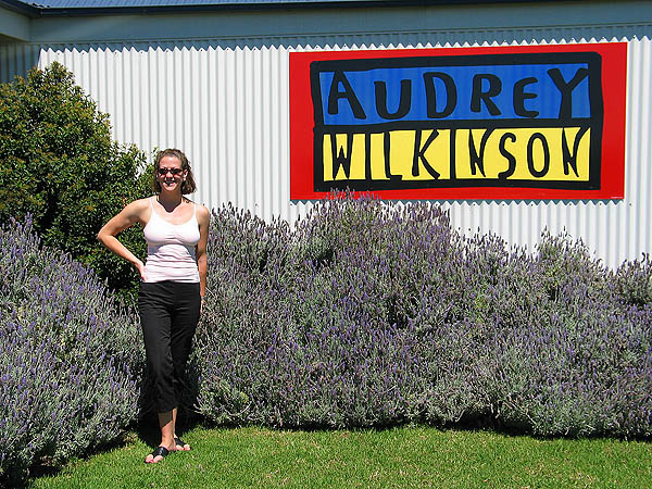 Australia 2004: Jane at Audrey Wilkinson