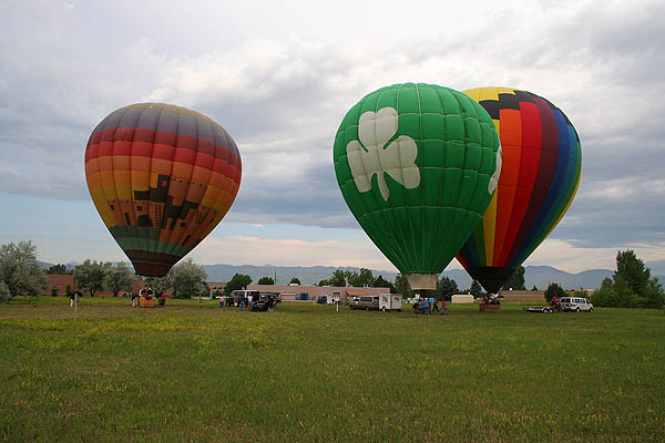 Ballooning 2005: Three Inflated Balloons