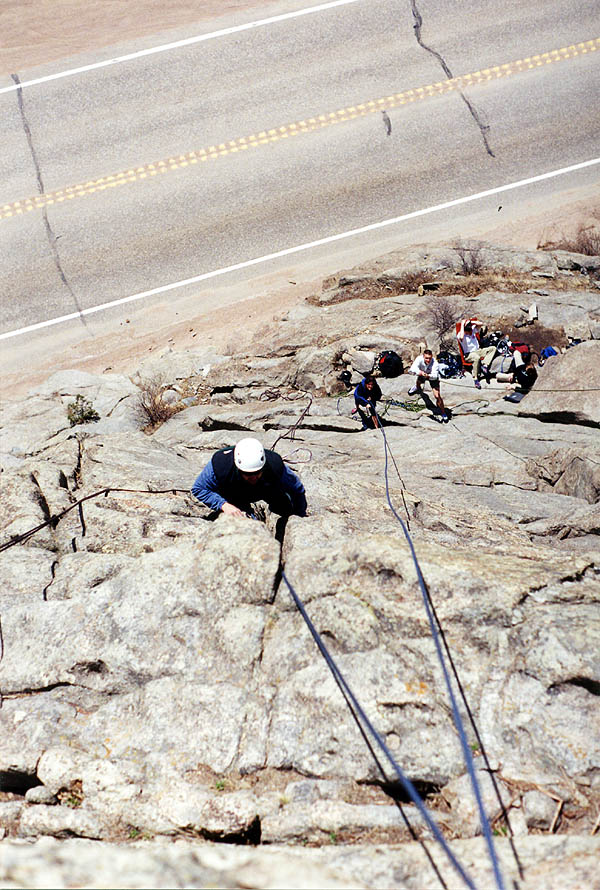 Boulderado April 2001: Curtis Climbing