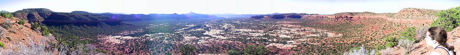 Canyoneering 2002: 00: Panoramic from Camp 2