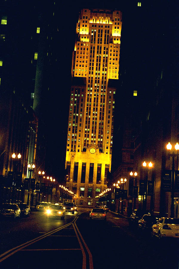 Chicago Board of Trade at Night