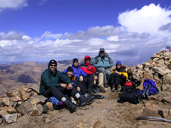 Mt Elbert 2001: Summit Team