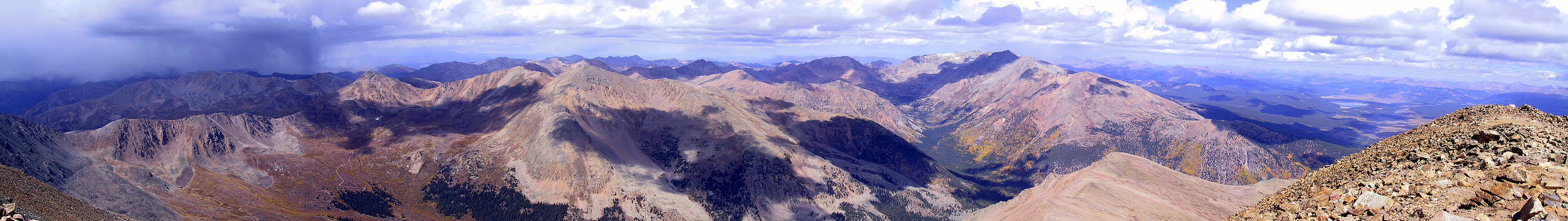 Mt Elbert 2001: Summit Panoramic North