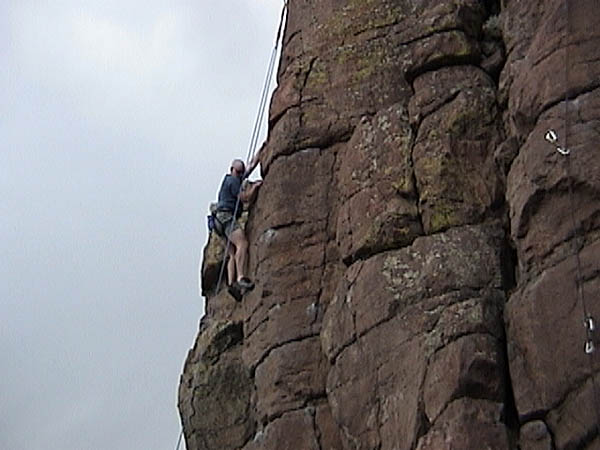 Golden Cliffs April 2001: Curtis Climbing Again