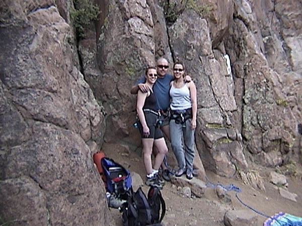 Golden Cliffs April 2001: Climbers