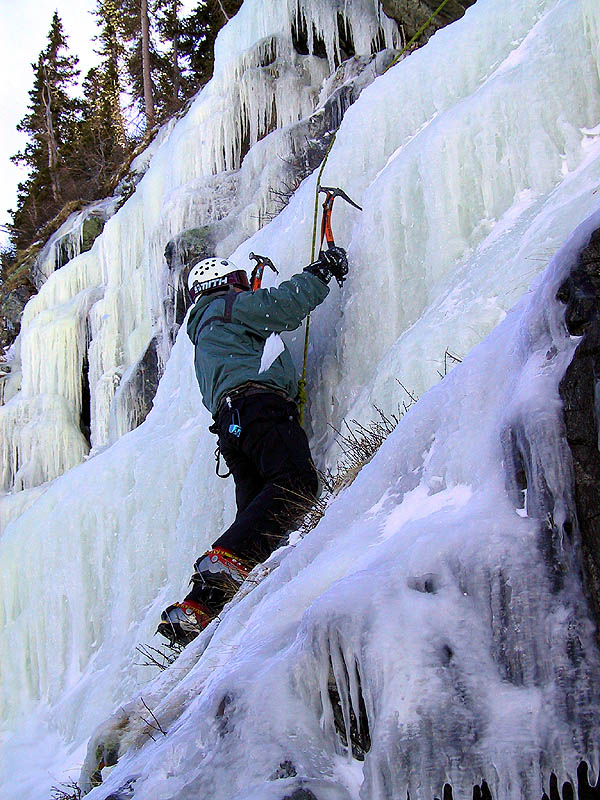 Lincoln Falls 2002: Curtis Climbing Ice