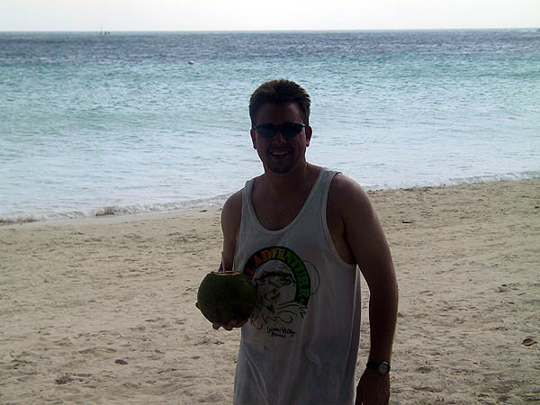 Jamaica 2002: Curtis and the Coconut Drink