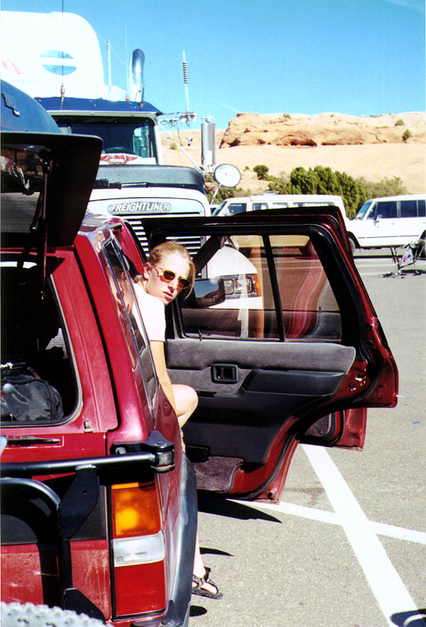 Moab 2000: Rose in the Parking Lot