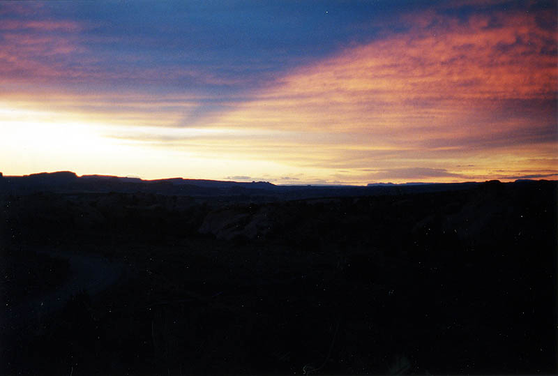 Moab 2001: Moab Terrain at Sunset