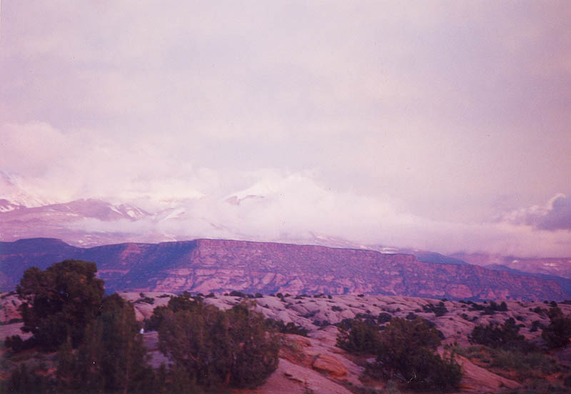 Moab 2001: La Salles at Sunset Again
