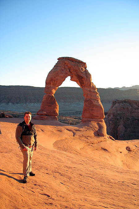 Moab 2005: Arches: Curtis at Delicate Arch