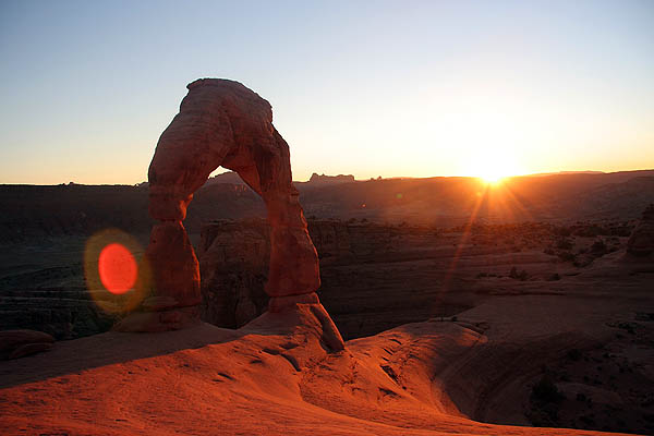 Moab 2005: Arches: Delicate Arch at Sunset