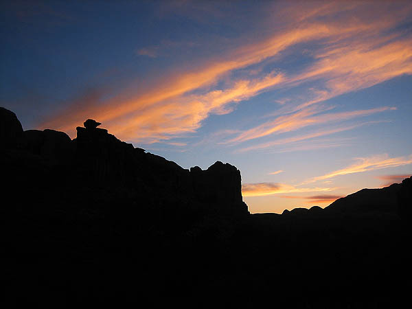 Moab 2006: Amasa Back: Sunset Silhouette 3