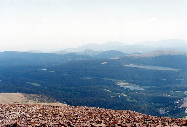 Mount Audubon 2001: View of Brainard Lake