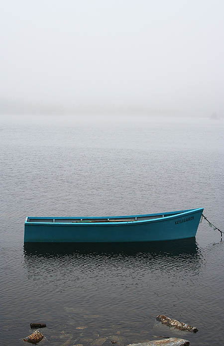 Newfoundland 2005: Rowboat in the Mist