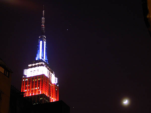 NY 2002: Empire State Building and Moon 02