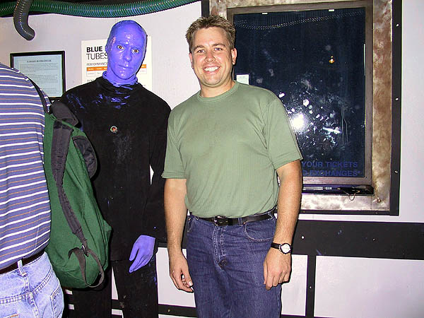 NYC 2002: Curtis and the Blue Man