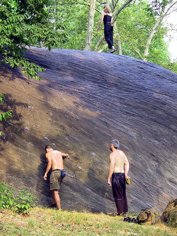 NYC 2002: Central Park Bouldering 02