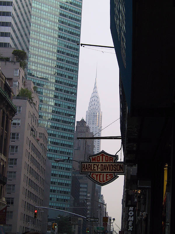 NYC 2002: Harley and the Chrysler Building