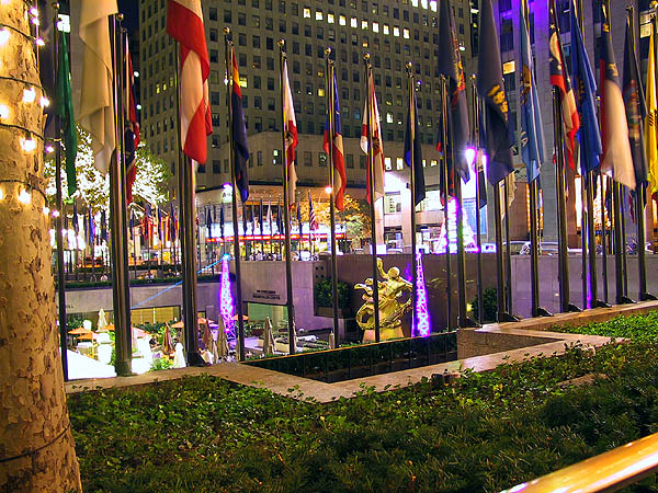 NYC 2002: Rockefeller Center at Night