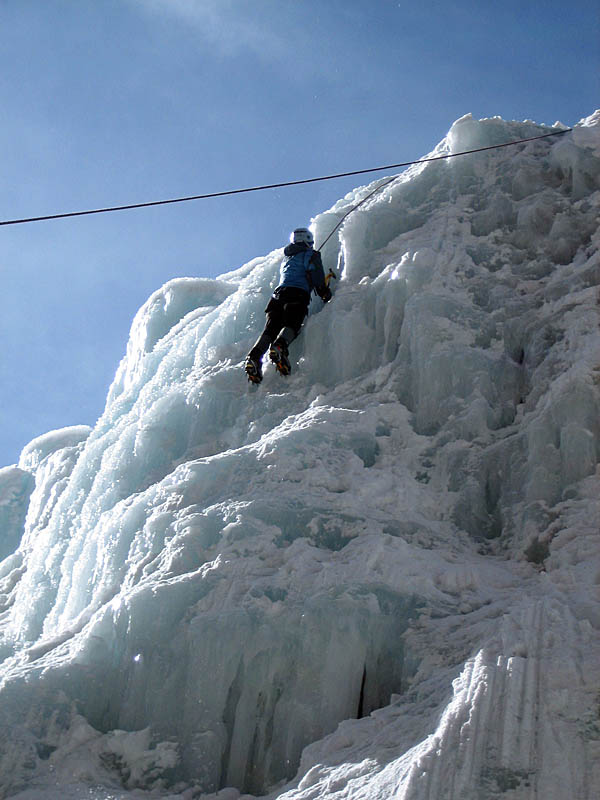 Ouray 2007: Climber in New Funtier 2