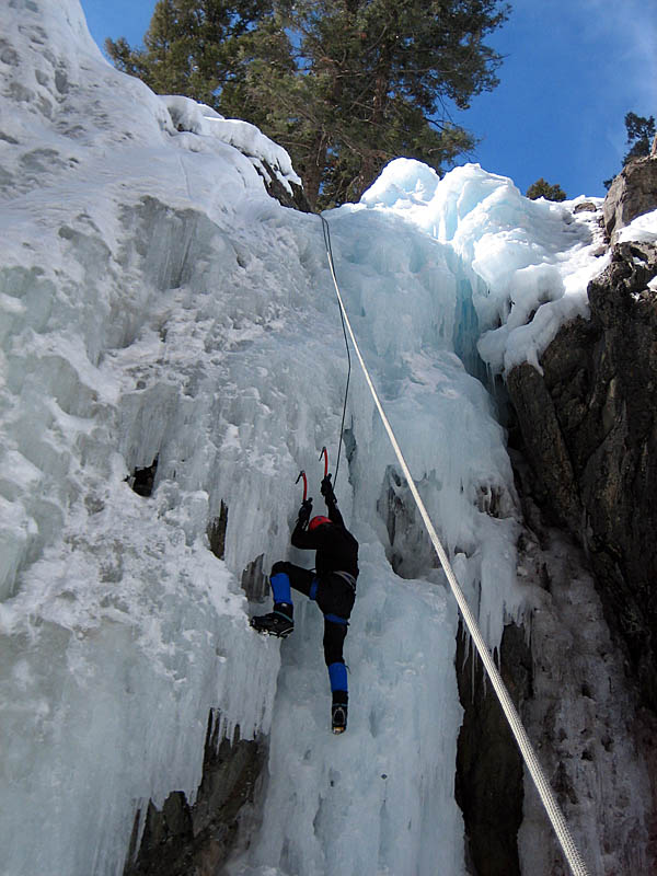Ouray 2007: Greg Ice Climbing 2