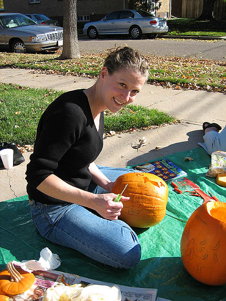 Pumpkin Carving 2005: Jane