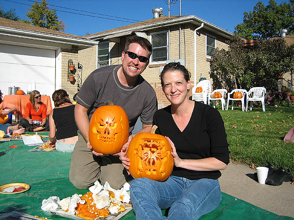Pumpkin Carving 2005: Curtis and Jane Pumpkins