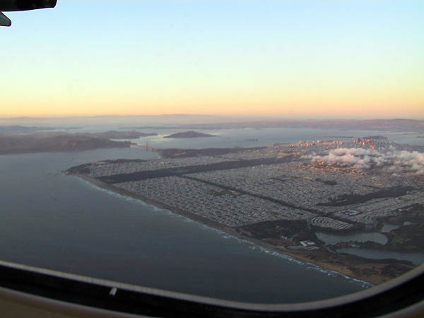SFO: Golden Gate Bridge and Downtown