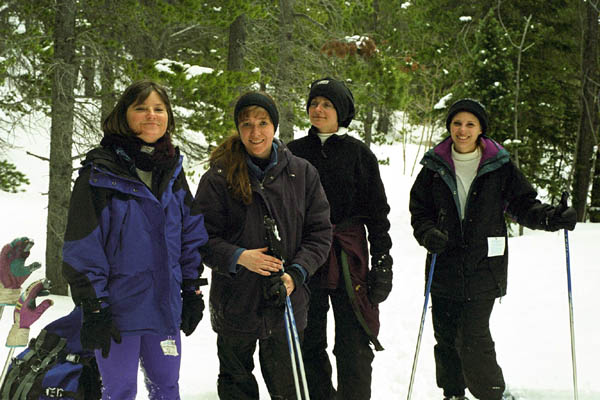 Chicks on Snowshoes