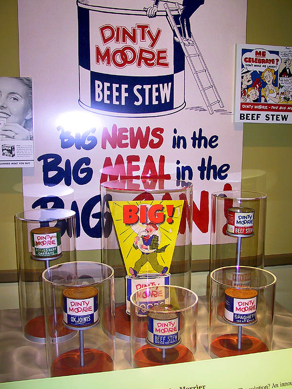 Spam Museum: Dinty Moore Display