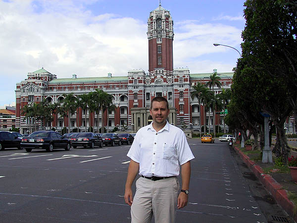 Taipei 2001: Curtis at the Presidential Office Building