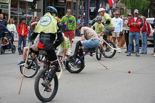 Telluride 2006: Unicycle Hockey Action 9