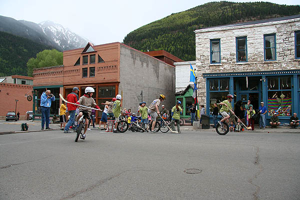 Telluride 2006: Unicycle Hockey Play