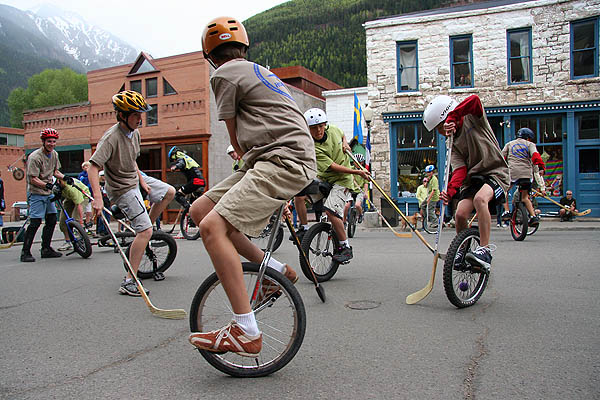 Telluride 2006: Unicycle Hockey Play 3