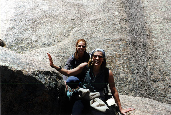 Vedauwoo May 2000: Amy and Laura