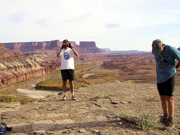 White Rim 2001: Day 3: John Taking Pictures