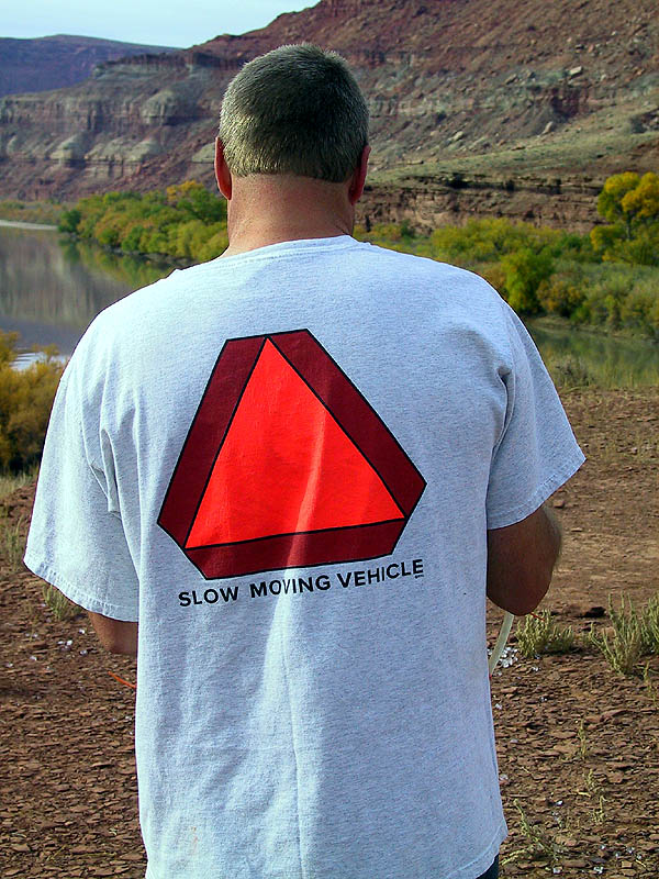 White Rim 2001: Day 4: Ricks Shirt