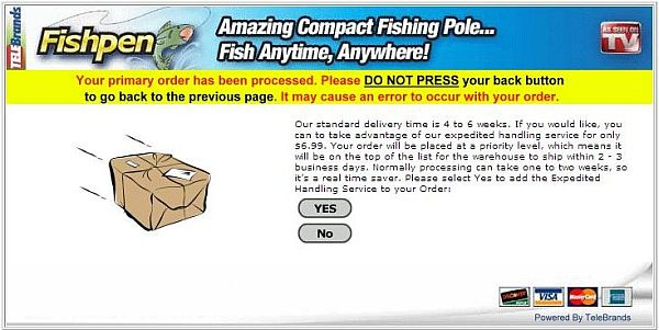 Fish Pen Screen 4 - Ordering